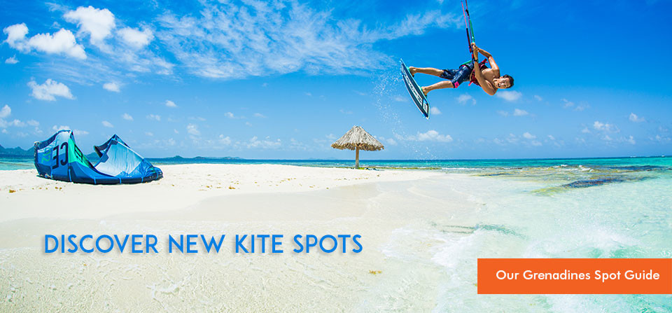 Kitesurfing Spots of the Grenadines in the Caribbean