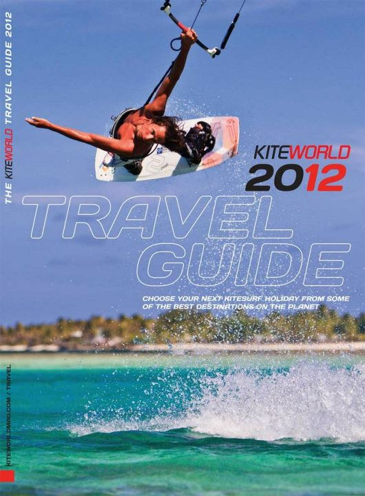 Union island on the cover of Kiteworld magazine travel guide